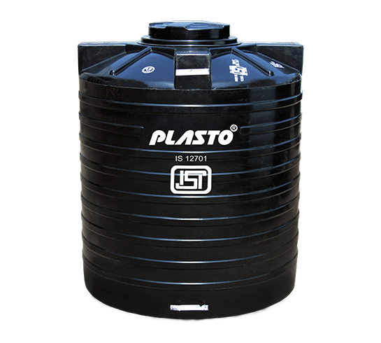 plasto water storage tank black
