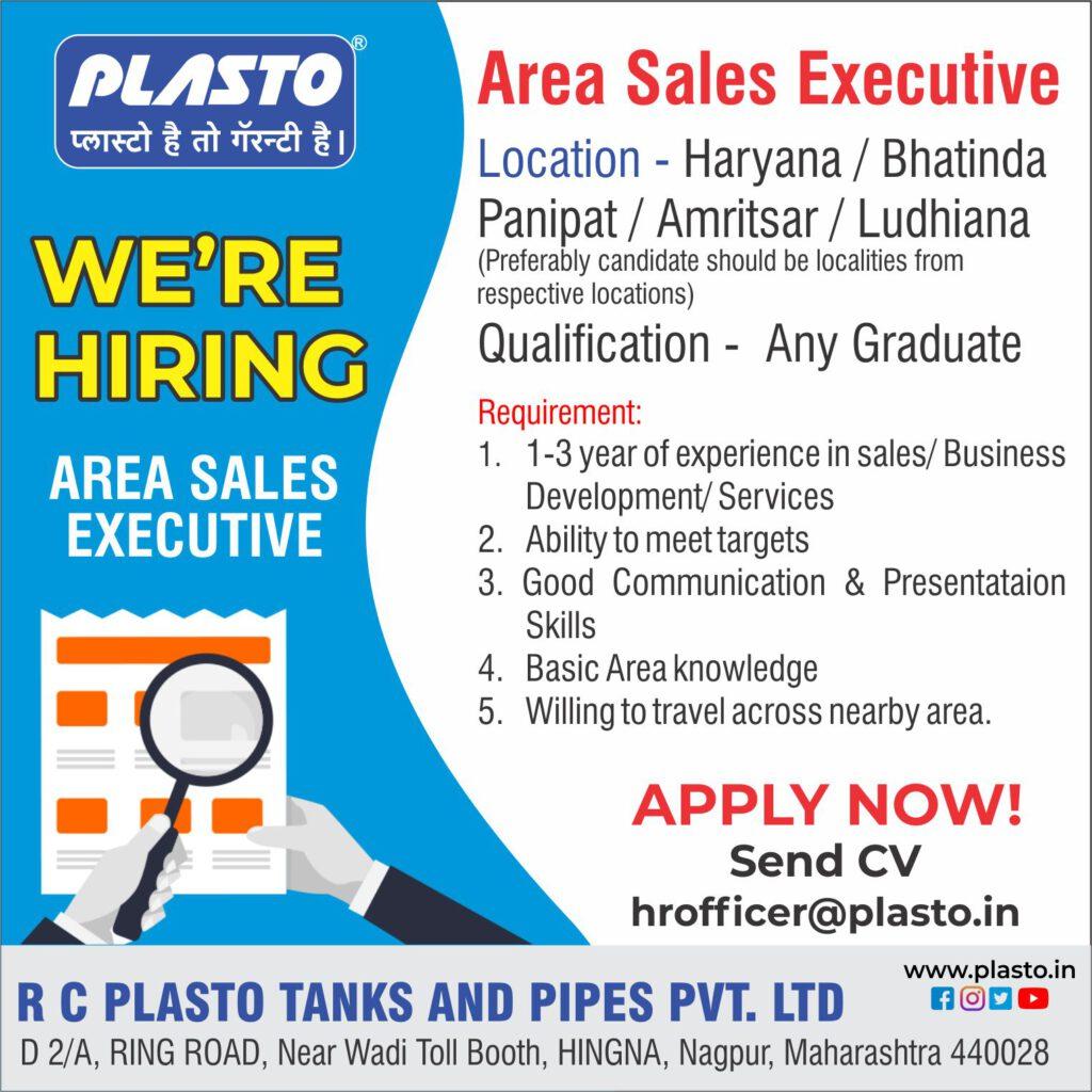plasto job openings